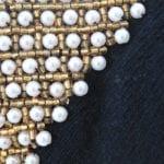 Maroon, plastic flowers, pearls
