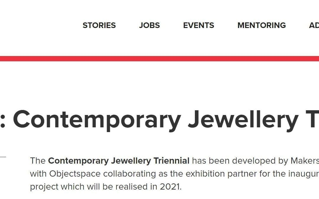 Curator: Contemporary Jewellery Triennale